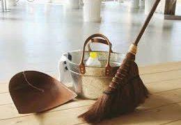 """掃除は""""折り合い""""をつけることというのは、良い教訓になっています。"""