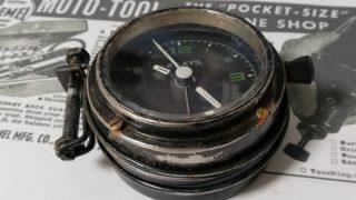 レトロなゼンマイ時計をミリタリー風クウォーツ時計にリメイクする。