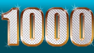 これが、1,000記事目!4年と4ヵ月で達成しました。